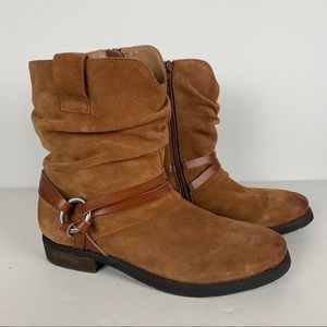 Corso como brown leather ankle boots womans 9